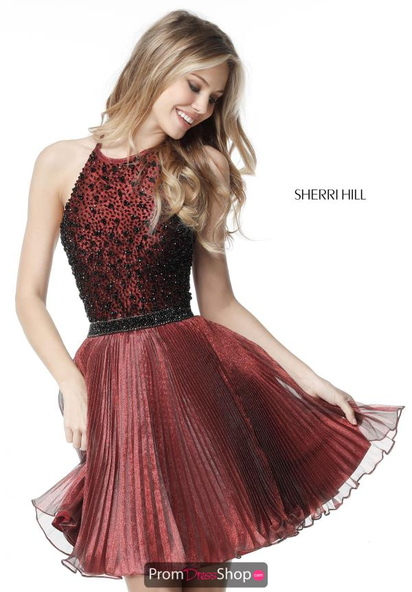 Sherri Hill Short A Line Organza Dress 51303
