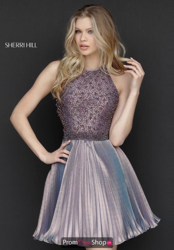 Sherri Hill Short A Line Organza Dress 51303
