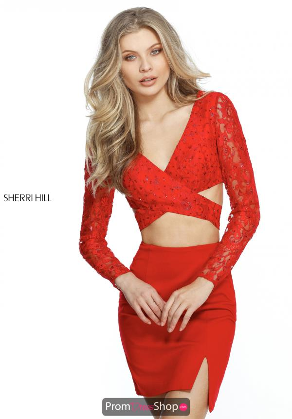Sherri Hill Short Two Piece Fitted Dress 51304