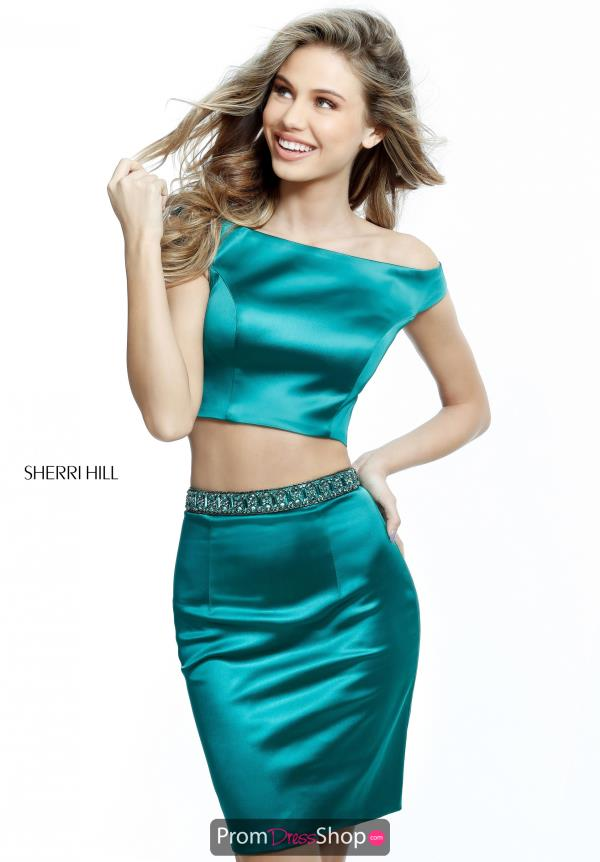 Sherri Hill Short Satin Dress 51318