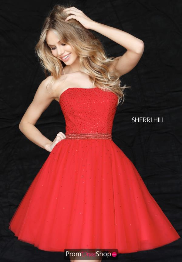Sherri Hill Short Full Figured Dress 51327