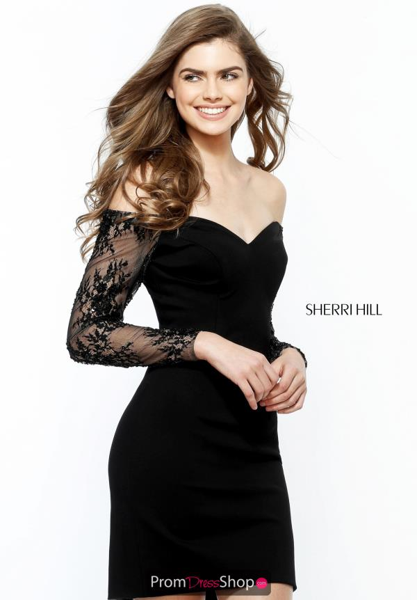 Sherri Hill Short Off the Shoulder Dress 51361