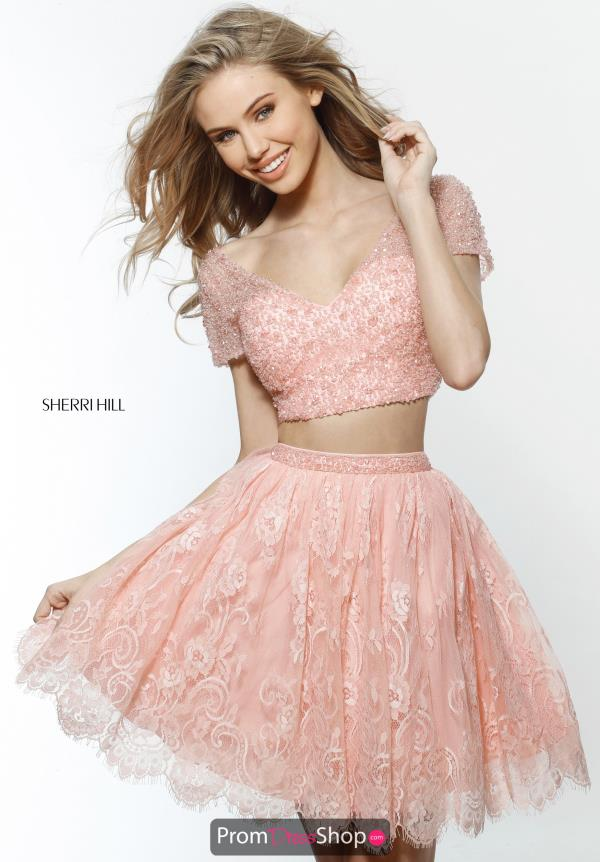Sherri Hill Short Cap Sleeve Dress 51366
