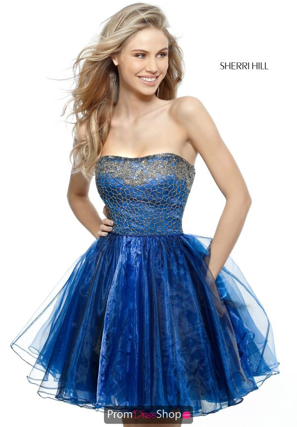 Sherri Hill Short Strapless Dress 51398