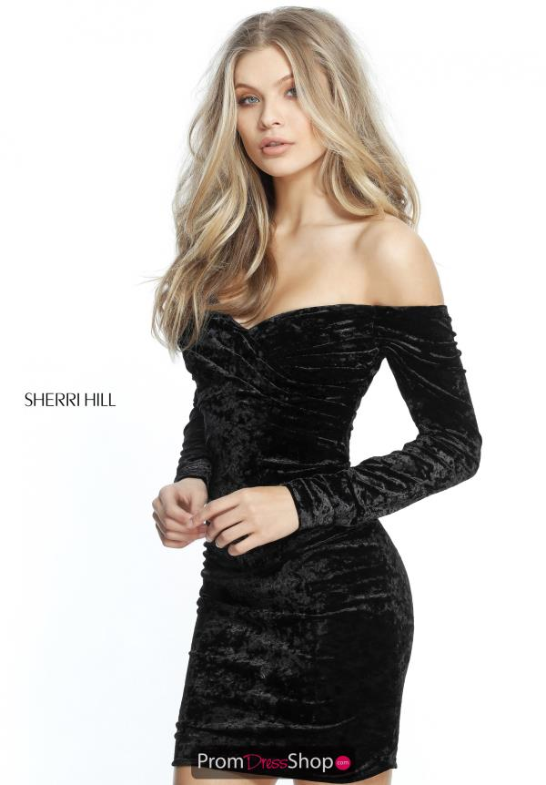 Sherri Hill Short Long Sleeve Dress 51403