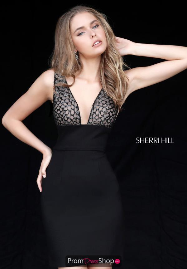 Sherri Hill Short Sexy Back Fitted Dress 51439