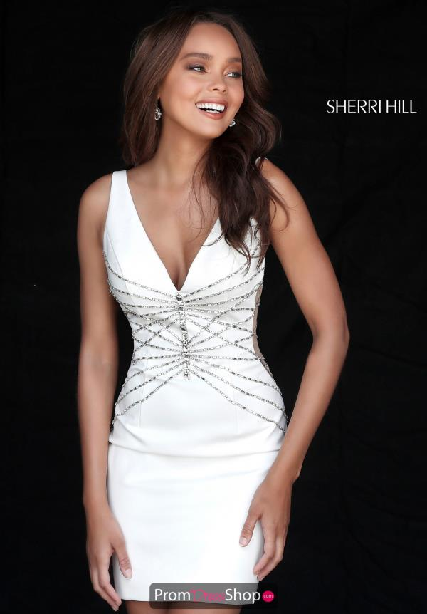 Sherri Hill Short Fitted Dress 51440