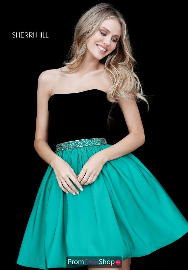 Sherri Hill Short A Line Taffeta Dress 51510