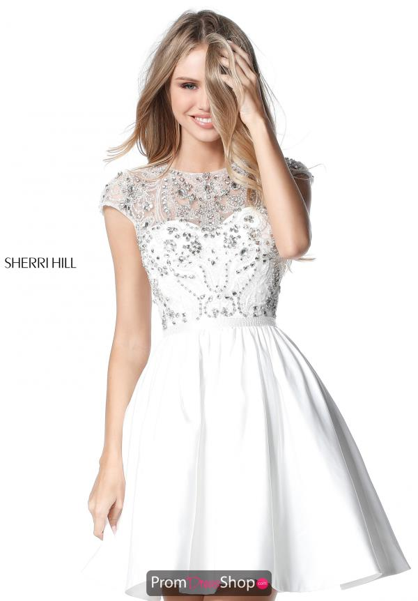 Sherri Hill Short Beaded Dress 51515