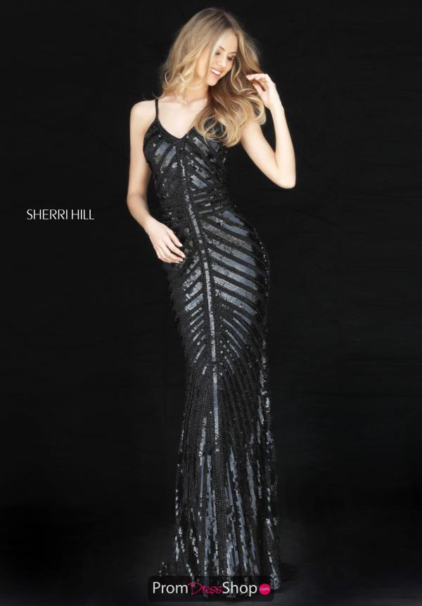 Sherri Hill Long Fitted Dress 51206