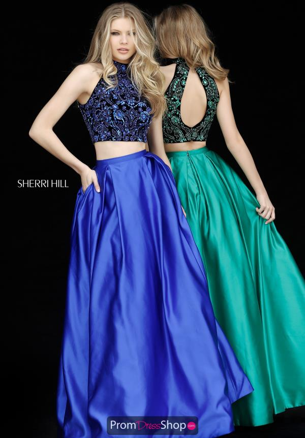 Sherri Hill Satin Halter Dress 51381