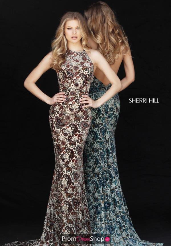 Sherri Hill Open Back Fitted Dress 51410