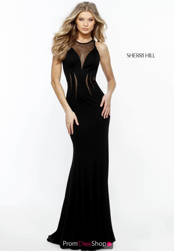 Sherri Hill Illusion Halter Neckline Dress 51413