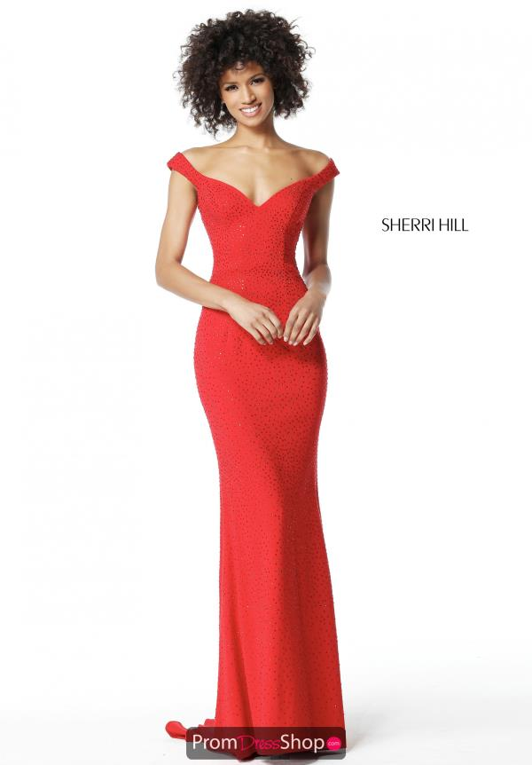 Sherri Hill Fitted Beaded Dress 51434