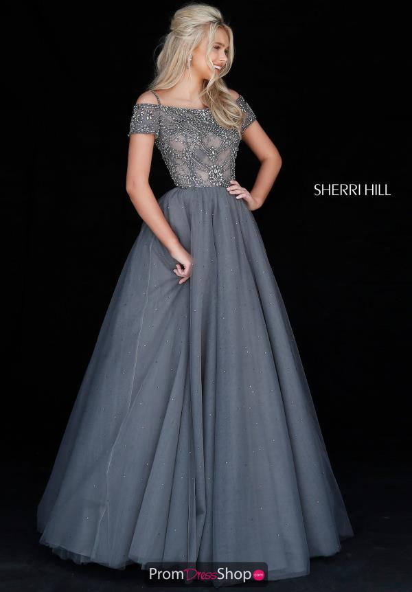 Sherri Hill Full Figured Beaded Dress 51450