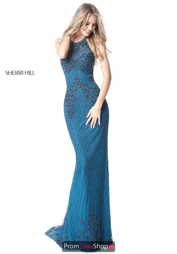 Sherri Hill Open Back Halter Dress 51471