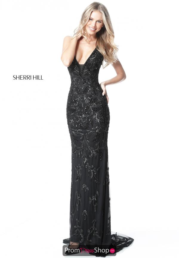Sherri Hill V-Neck Long Dress 51473