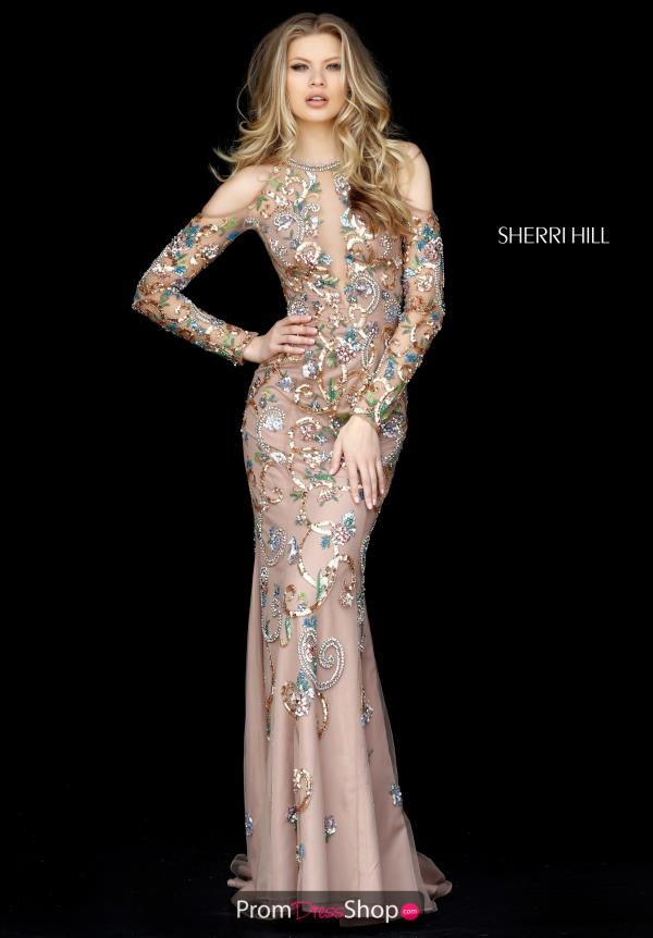 Sherri Hill High Neckline Fitted Dress 51486