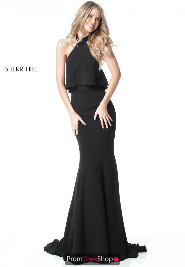 Sherri Hill Open Back Fitted Dress 51488
