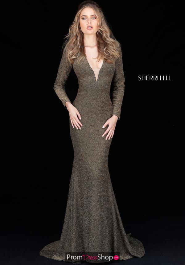 Sherri Hill V-Neck Jersey Dress 51533