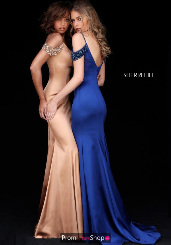 Sherri Hill Satin Fitted Dress 51541