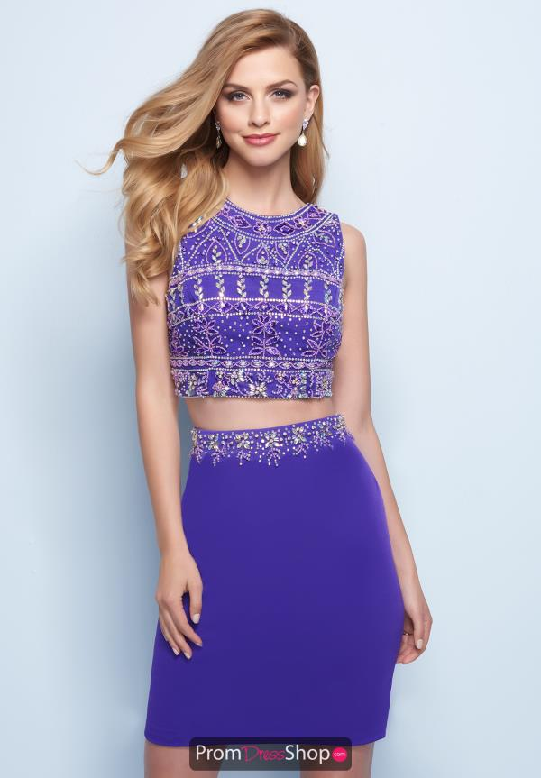 Splash Short Purple Dress E715