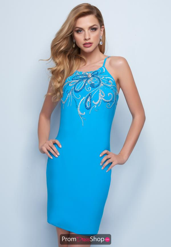 Splash Beaded Short Dress E758