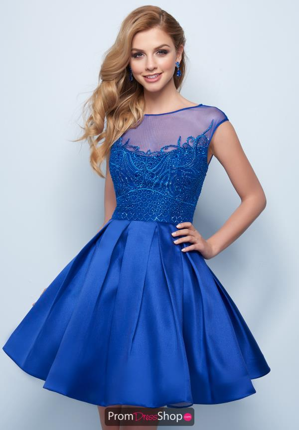 Splash Blue Short Dress E764