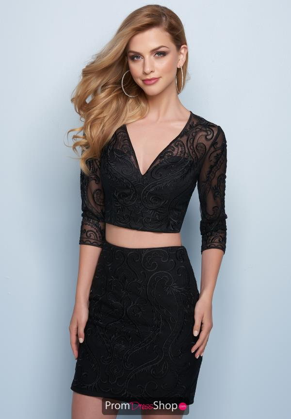 Splash Black Fitted Dress E767B