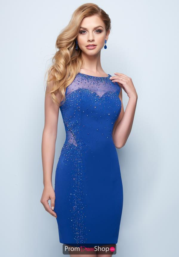 Splash Fitted Jersey Dress E773