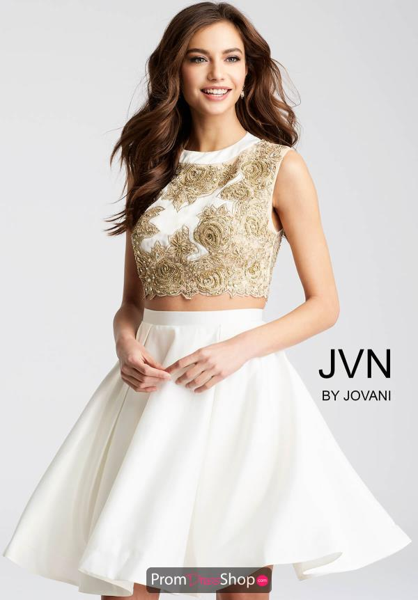 JVN by Jovani A Line Applique Dress JVN45597