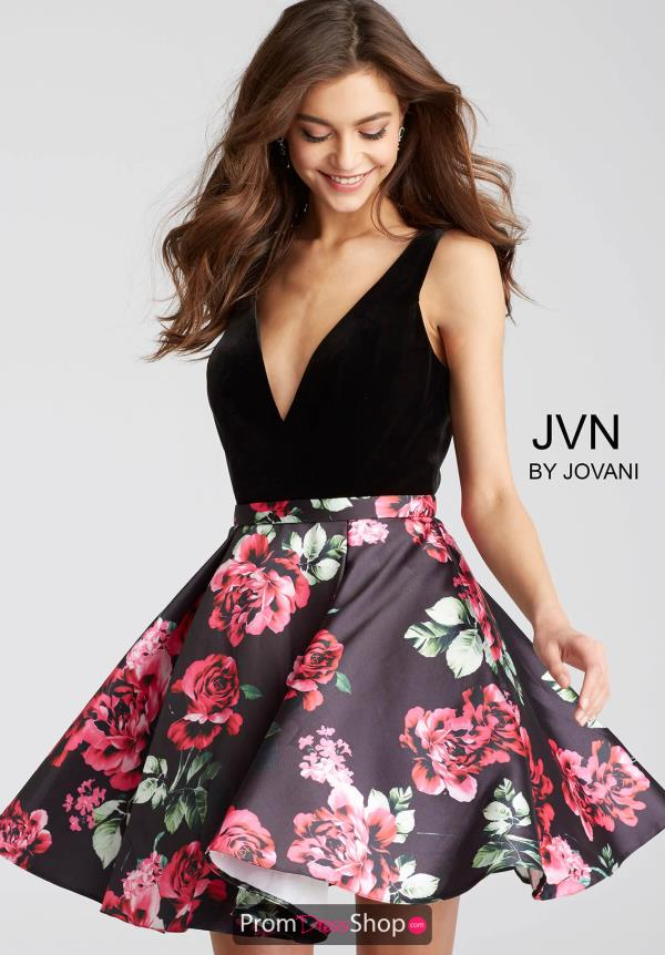 JVN by Jovani Black Dress JVN54510