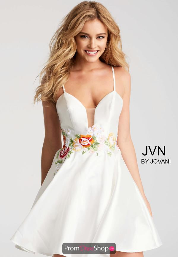 JVN by Jovani V- Neckline A Line Dress JVN56098