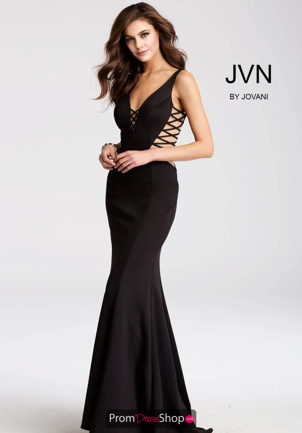 JVN by Jovani Black Dress JVN54570