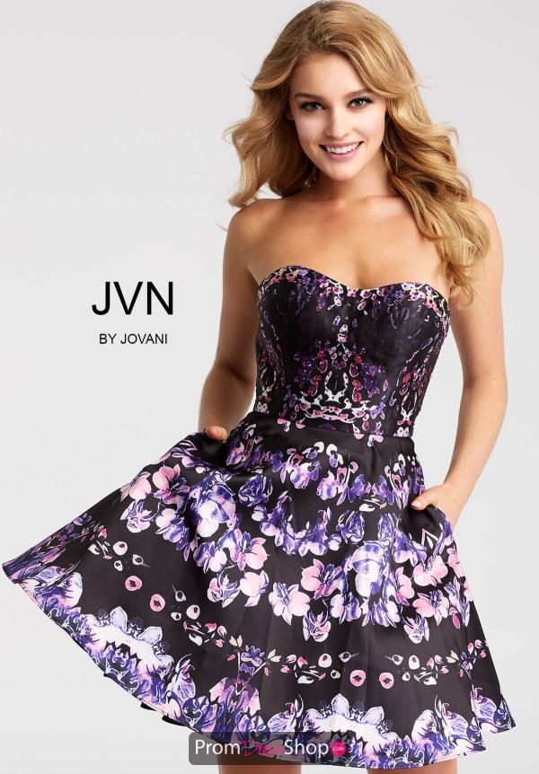 JVN by Jovani Short Black Dress JVN56021