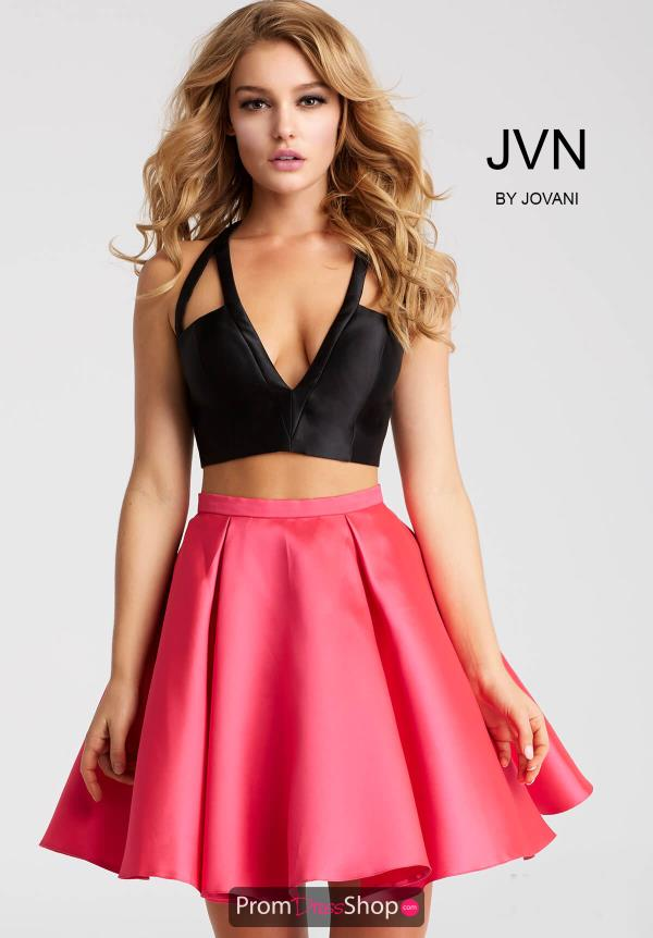 JVN by Jovani Taffeta A Line Dress JVN57208