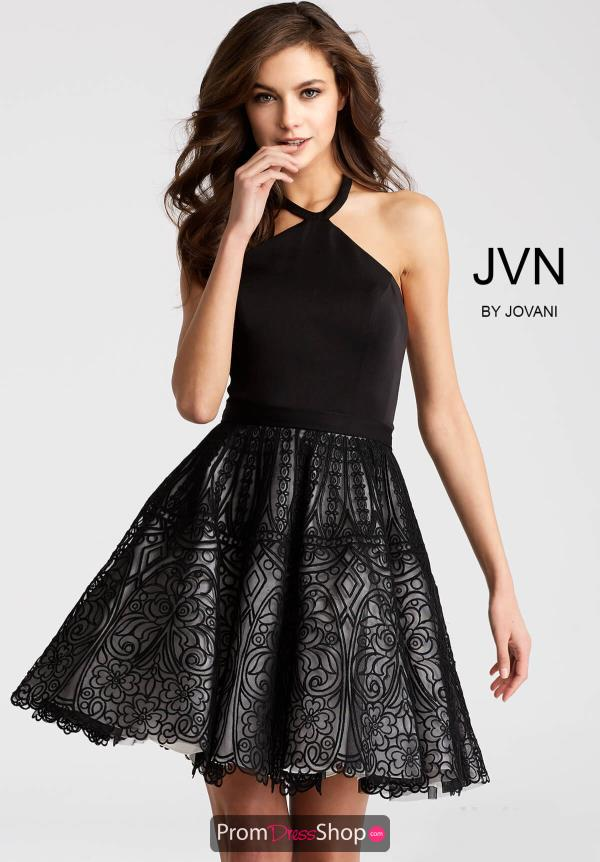 JVN by Jovani Short A Line Dress JVN58127