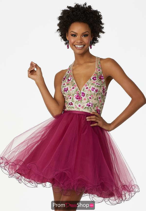 MoriLee Sticks & Stones Tulle Skirt Dress 33024