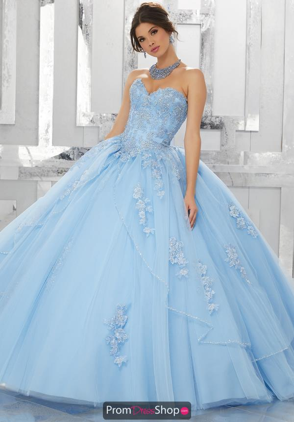 Vizcaya Quinceanera Lace Back Ball Gown 60024