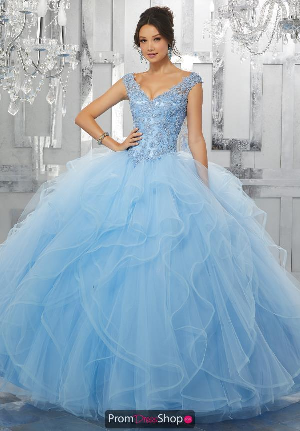 Vizcaya Quinceanera Ruffled Skirt Ball Gown 60026