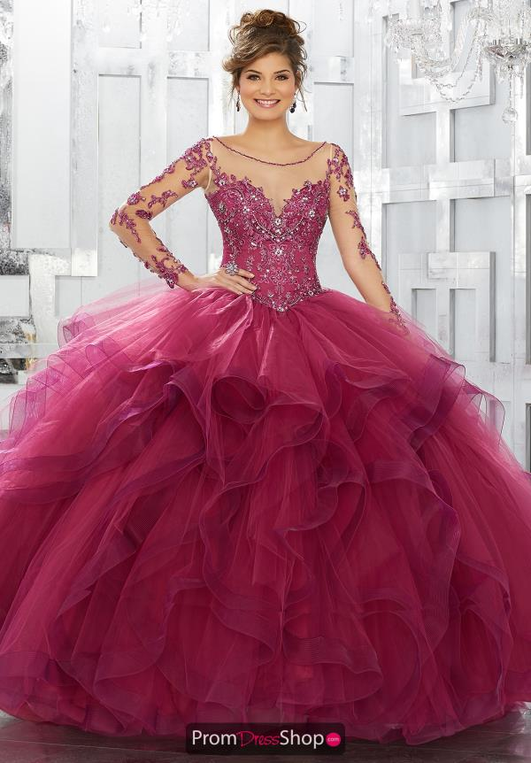 Vizcaya Quinceanera Ruffled Skirt Gown 89142