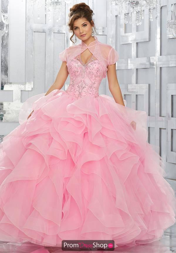 Vizcaya Quinceanera Halter Top Beaded Gown 89144
