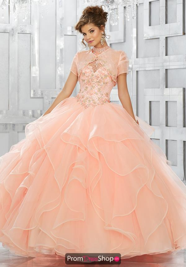 Vizcaya Quinceanera Lace Back Beaded Dress 89149