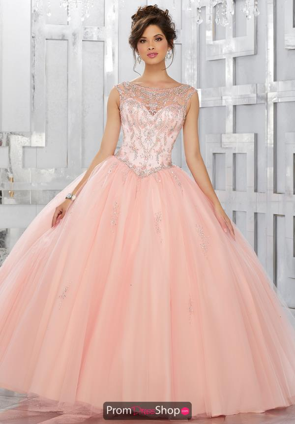 Vizcaya Quinceanera High Neckline Beaded Dress 89150