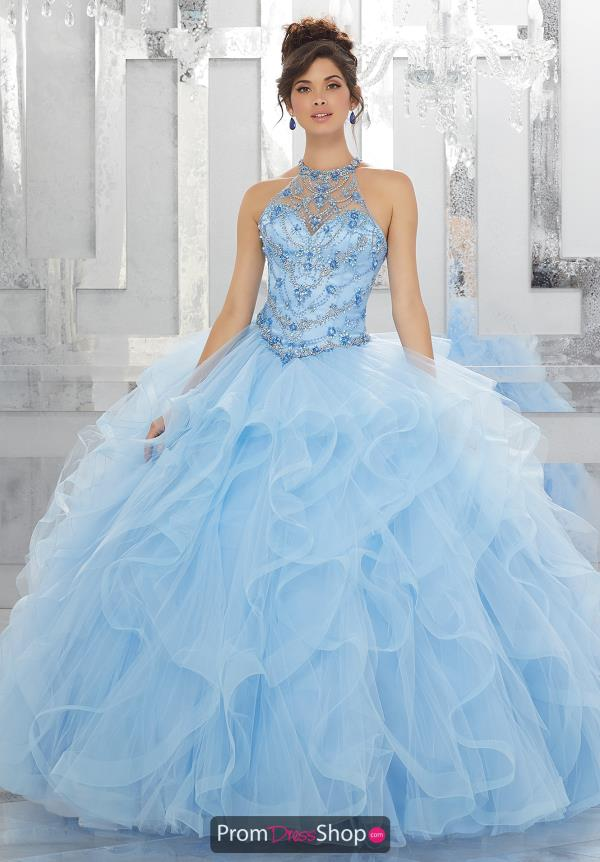 Vizcaya Quinceanera Beaded Long Dress 89154