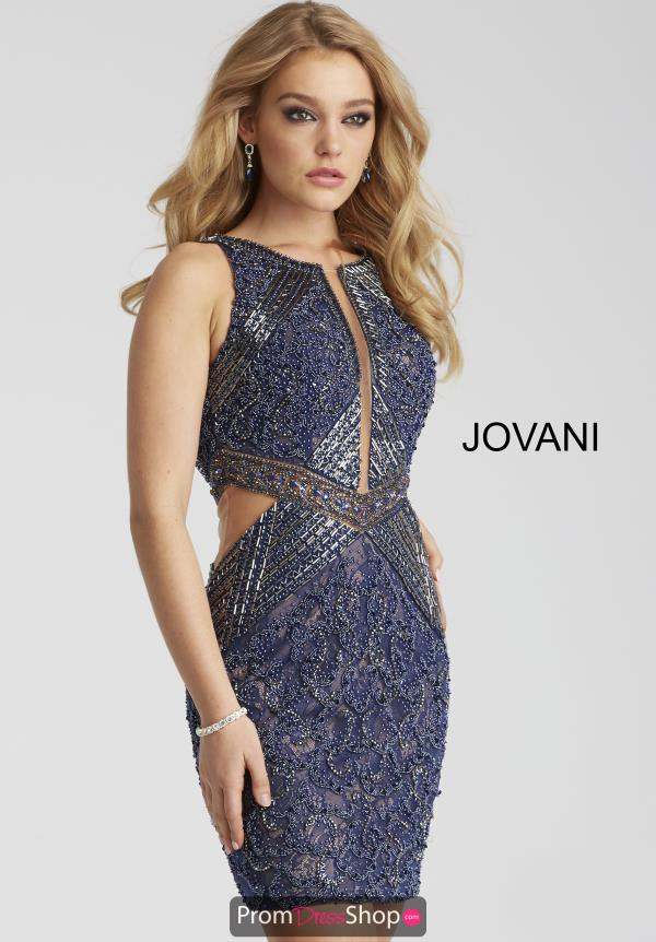 Jovani Cocktail Navy Dress 45569