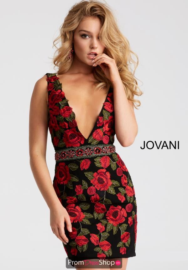 Jovani Cocktail Floral Dress 45743