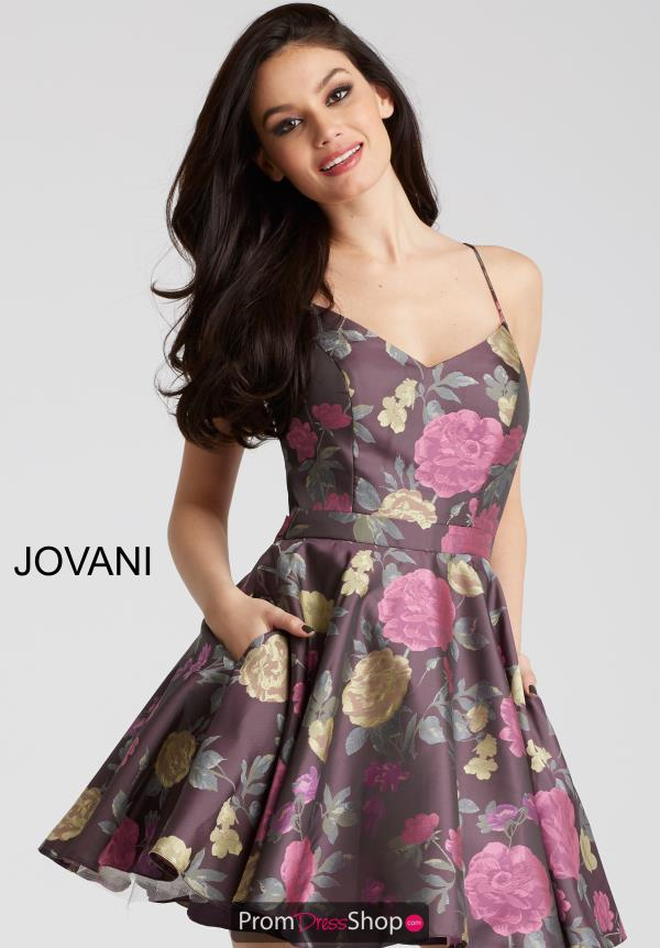 Jovani Cocktail Print Dress 53201