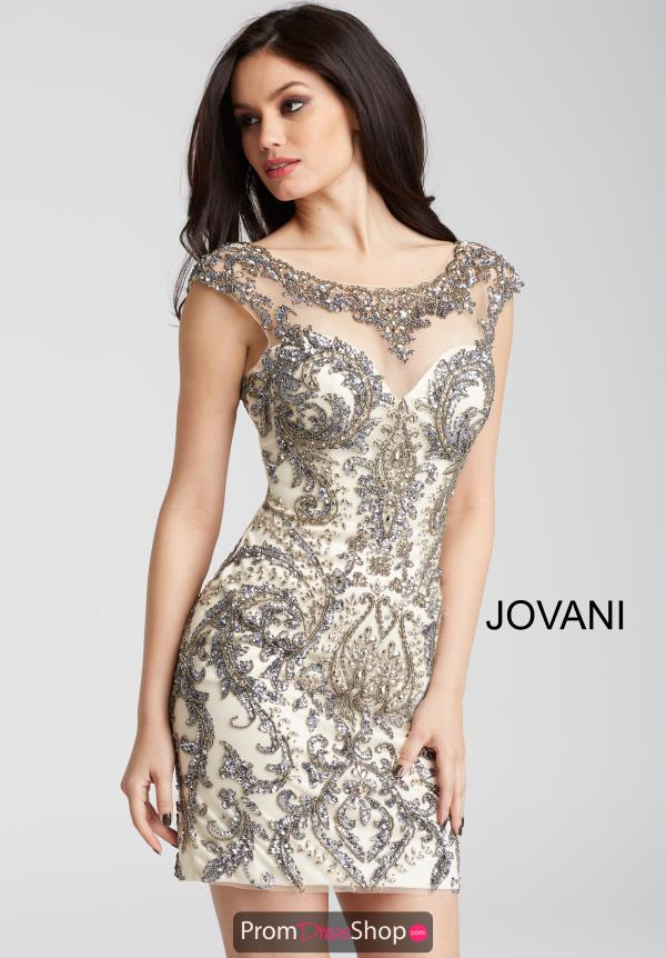 Jovani Cocktail Beaded Dress 54548