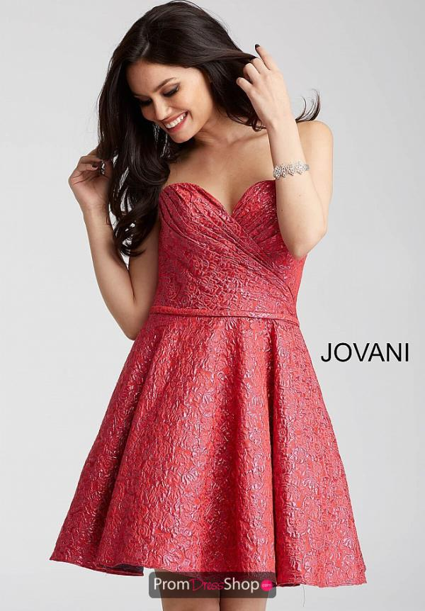 Jovani Cocktail Strapless Dress 54897